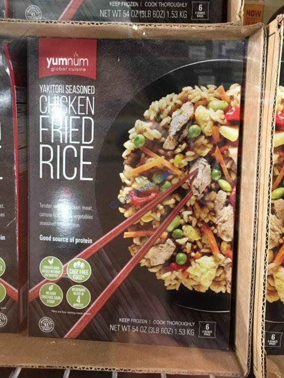 Yumnum Global Cuisine Chicken Fried Rice 6/9 ounce Packages