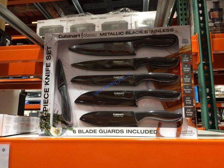 Cuisinart Black Metallic 6PC Knife Set, Model# C77-12PMBPC