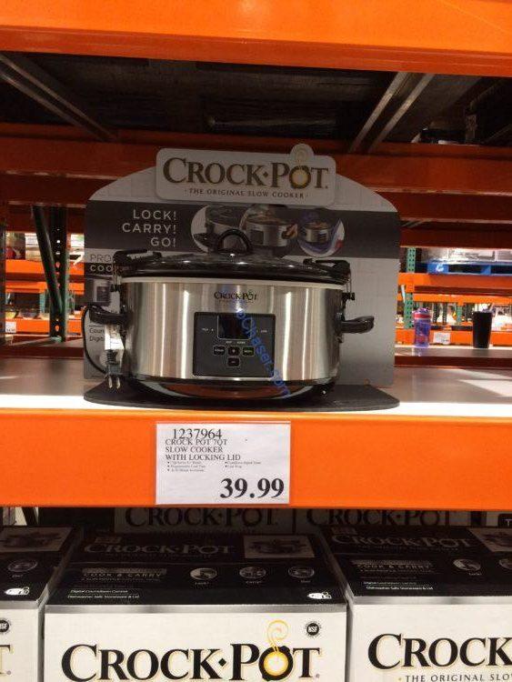 Crock Pot 7QT Slow Cooker with Locking Lid, Model#SCCPVLF710-S