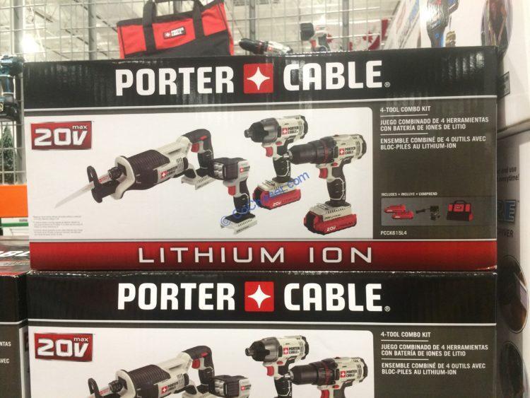 Porter Cable 4-Tool Combo Kit 20V MAX Lithium, Model# PCCK615L4