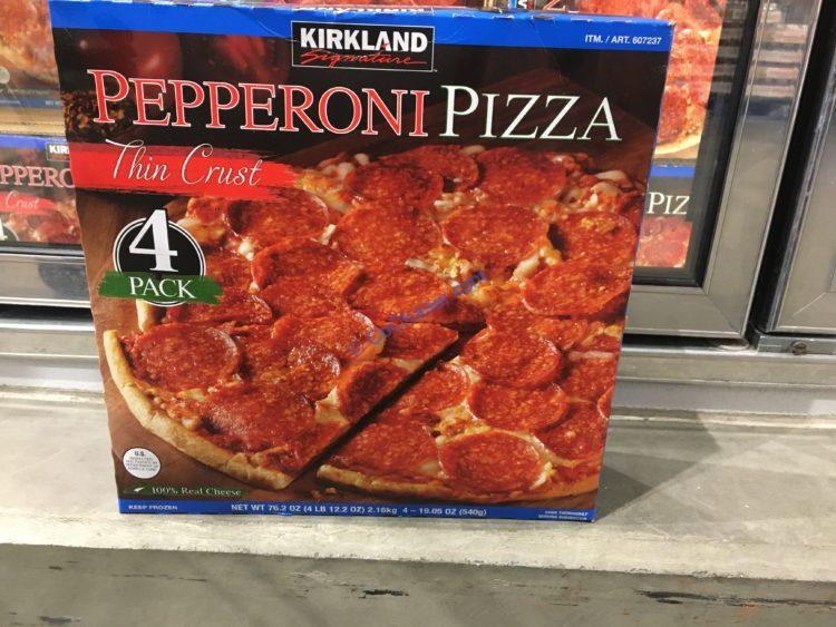 Kirkland Signature Pepperoni Pizza 4 Pack Box