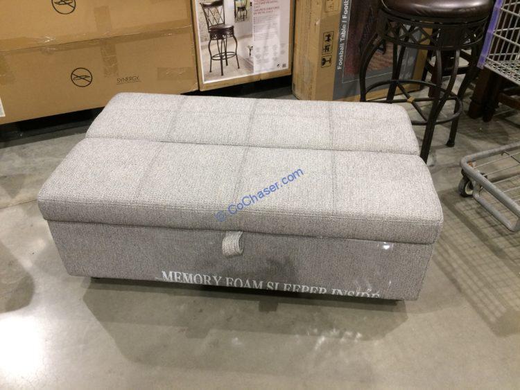 Synergy Home Fabric Sleeper Ottoman