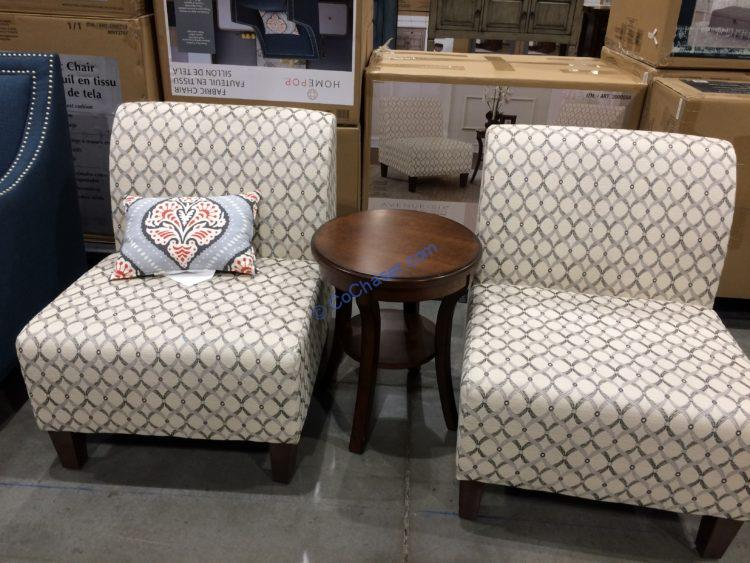 Ave Six 3 Piece Fabric Chair And Table Set Costcochaser