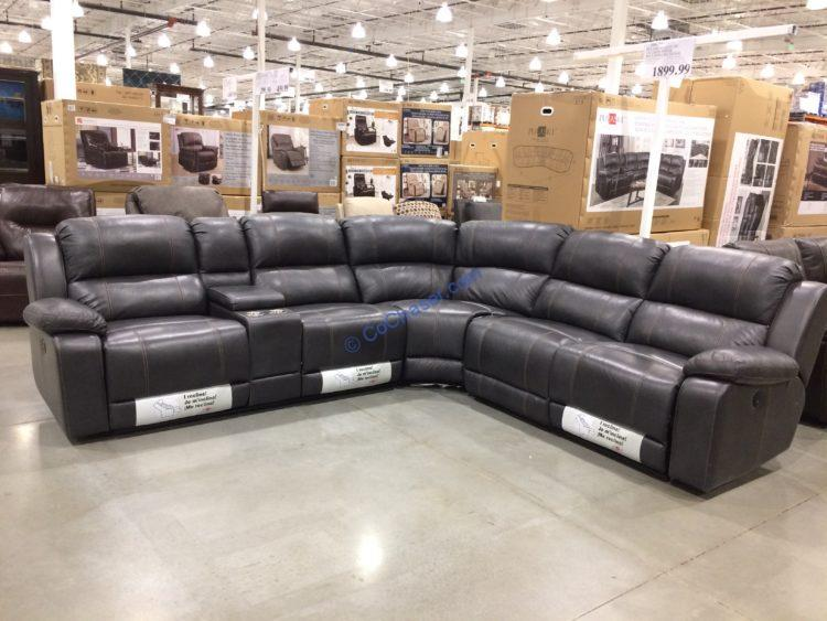 Pulaski Furniture Leather Power Reclining Sectional