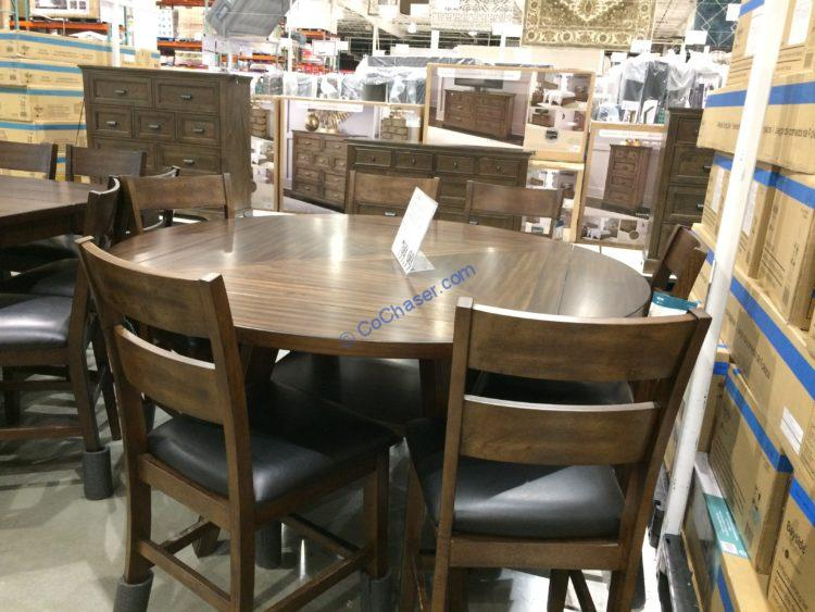 Bayside Furnishings 7PC Square to Round Counter Height Dining Set, Model#CSC7PCCHD-1N