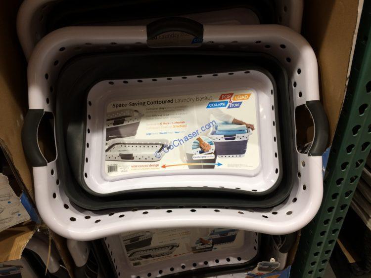 POP & LOAD Collapsible Hip Contour Laundry Basket