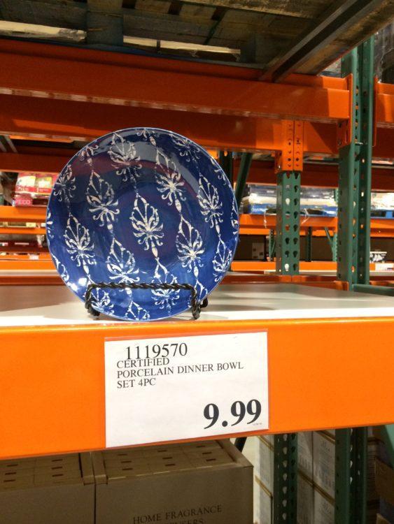 Certified Porcelain Dinner Bowl Set 4PC