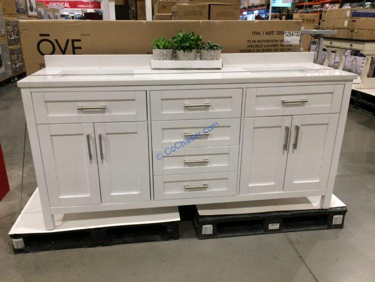 Ove 72 White Vanity Costcochaser