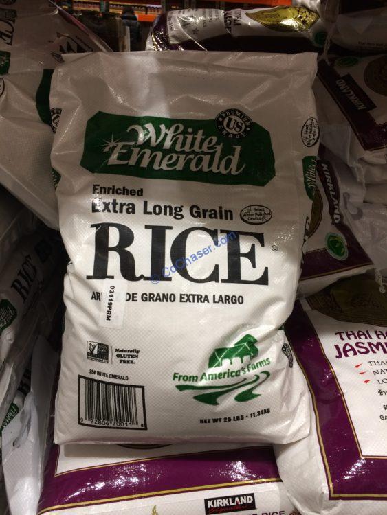 White Emerald Long Grain Rice 25 Pounds
