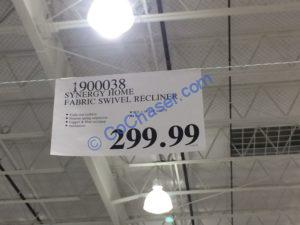 Costco-1900038-Synergy-Home-Fabric-Swivel-Recliner-tag