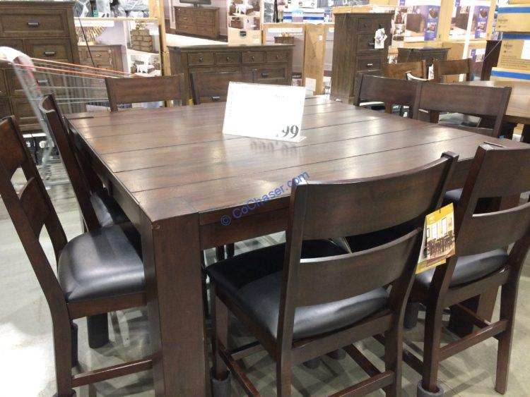 Bayside Furnishings 9PC Counter Height Dining Set, Model#CSC9PCCHD-5
