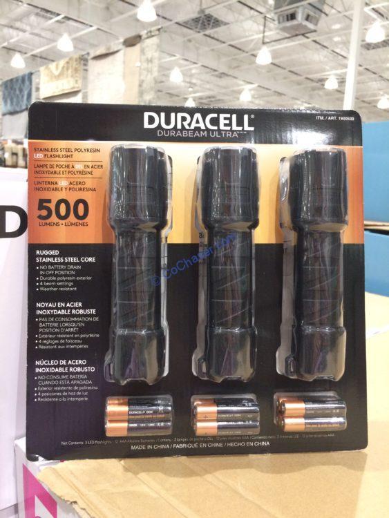 Duracell 500 Lumen LED Flashlight, 3-pack