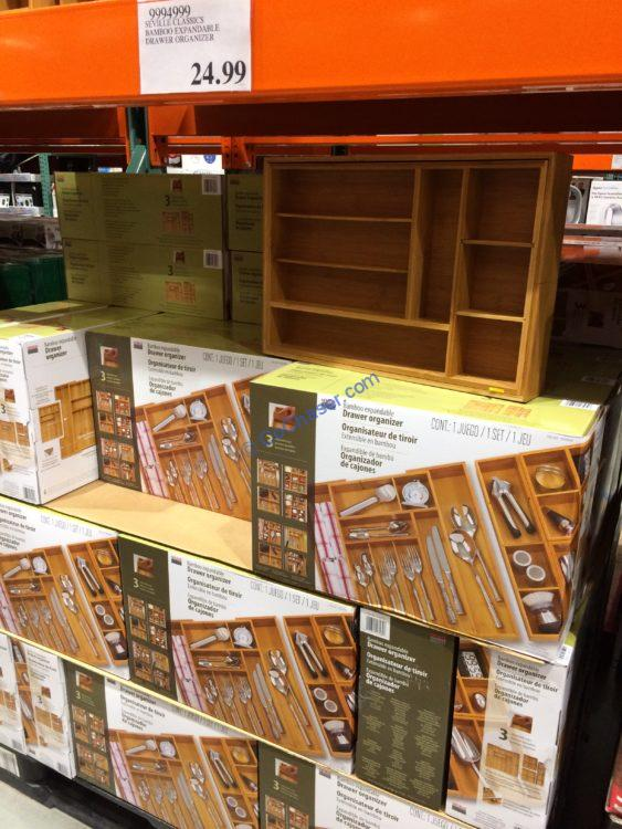 Costco 9994999 Seville Classics Bamboo Expandable Drawer