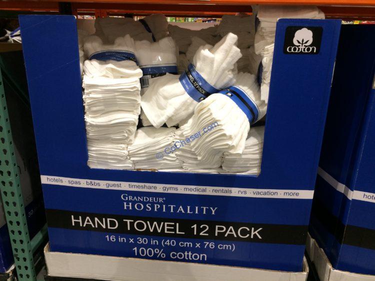 Grandeur Hospitality Hand Towel 12PK 16 in x 30 in