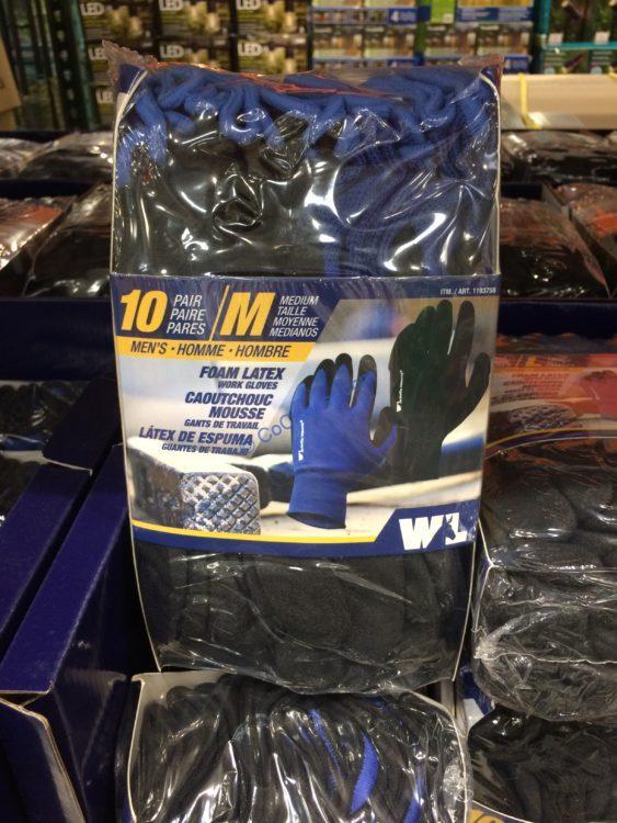 Wells Lamont Foam Latex Work Gloves 10 Pairs