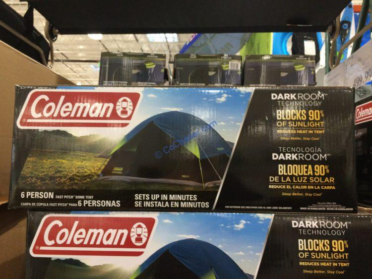 Coleman 6 Person Fast Pitch Dark Room Tent