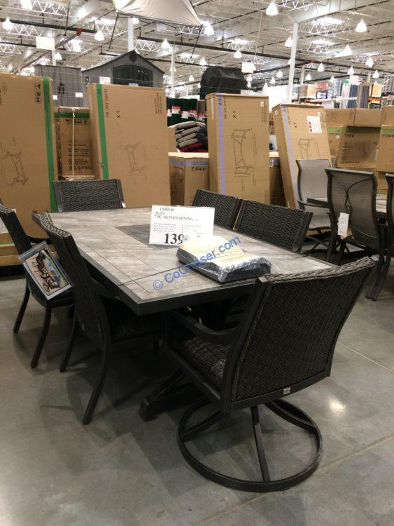 Agio 7PC Woven Dining Set