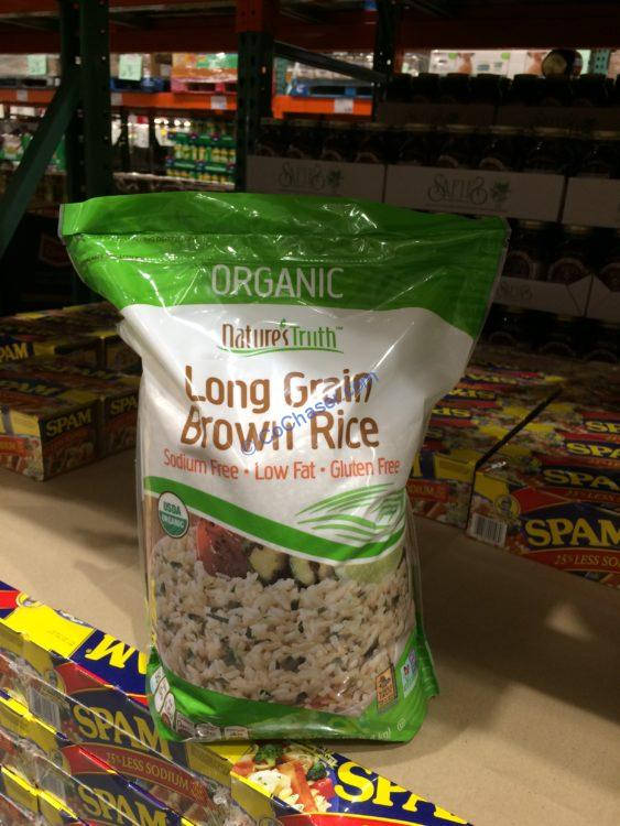 Nature's Truth Organic Brown Rice 12 Pound Bag