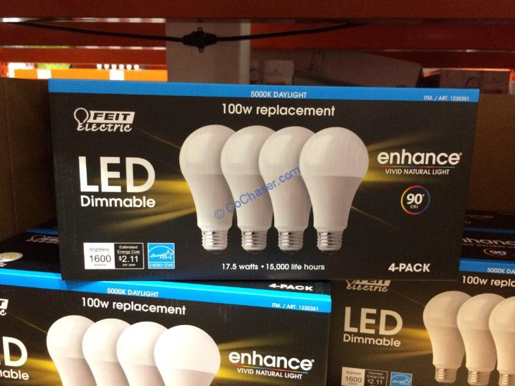 Feit Electric LED 100W Replacement 4 Pack Daylight