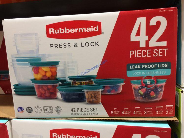 Rubbermaid 42-piece Press & Lock Food Storage Set
