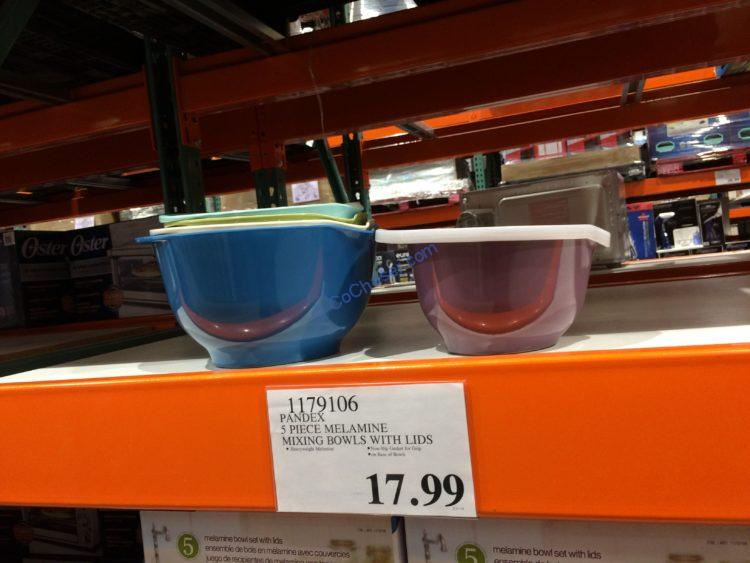 Pandex 5 Piece Melamine Mixing Bowls with Lids