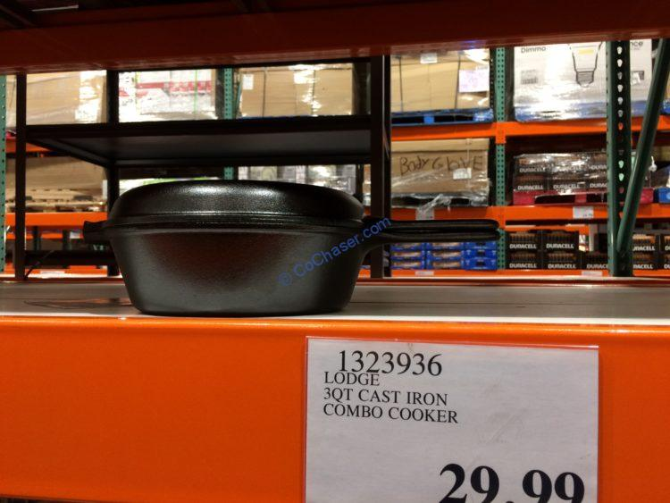 Lodge 3.2QT Cast Iron Combo Cooker