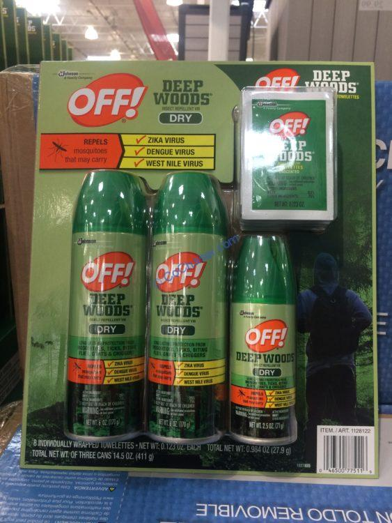 Off! Deep Woods Dry Insect Repellent Spray & Towelettes