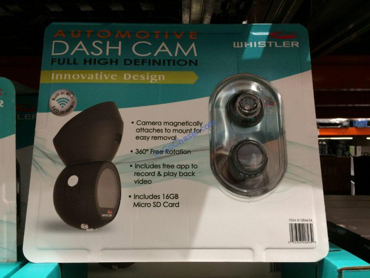 Whistler HD Dash Camera, Model# D28RSCX