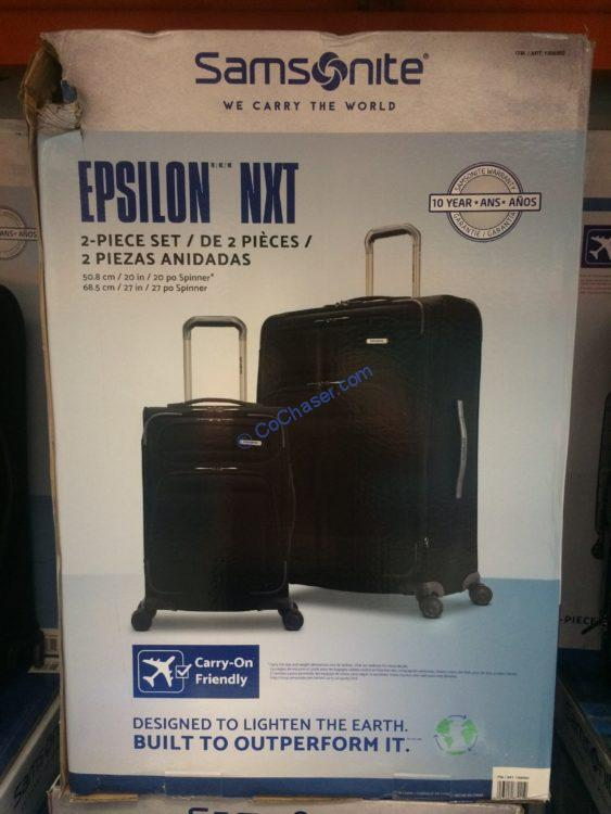 Samsonite Epsilon NXT 2-piece Softside Set
