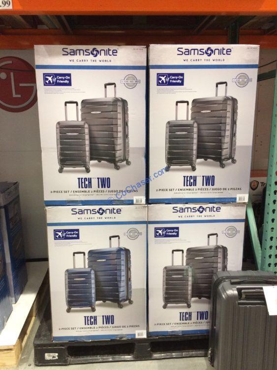 Costco 1307188 Samsonite Tech 2 0 2 Piece Hardside Luggage