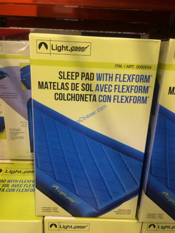 Lightspeed Outdoors Self-inflating Sleep Pad with FlexForm