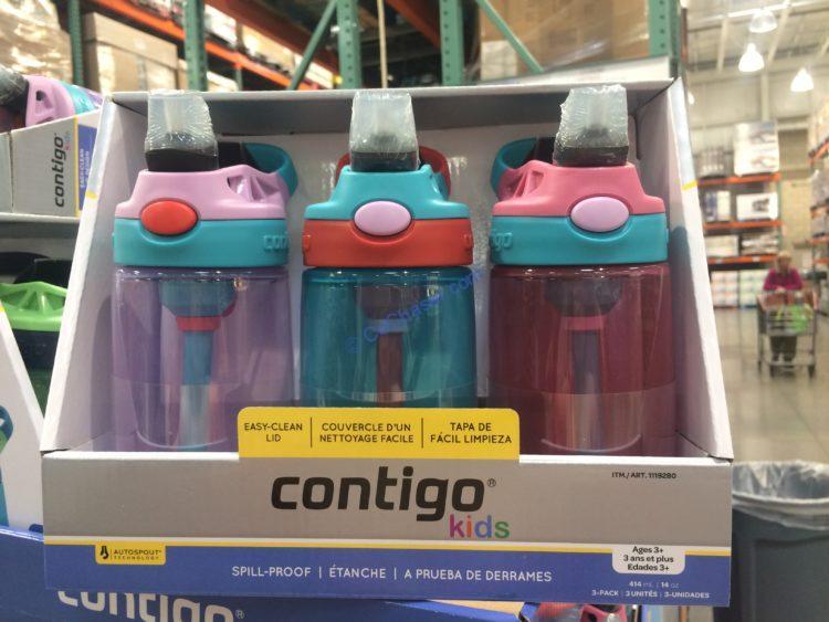 Contigo Kids Autospout Water Bottle 3PK