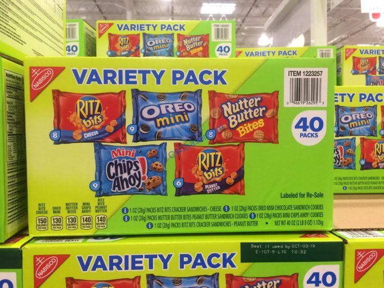 Nabisco Variety Cookie Box 40 Count Box