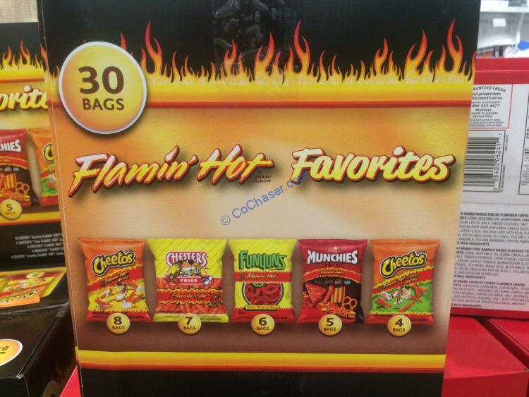 Frito Lay Flamin Hot Favorites 30 Count Box