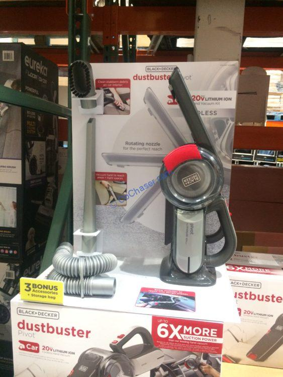 Black & Decker Dustbuster 20V Pivot Auto Vacuum