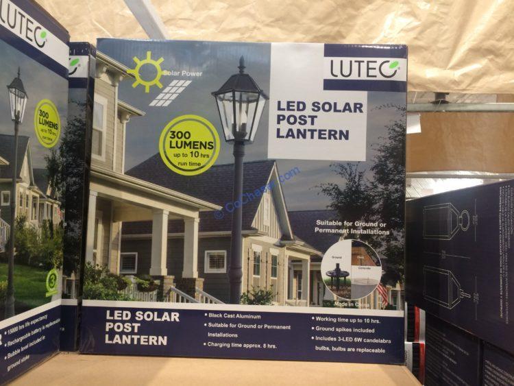 Lutec LED Solar Post Lantern