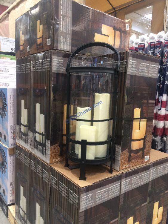Costco-1900695-Outdoor-Lantern-with-LED-Candles