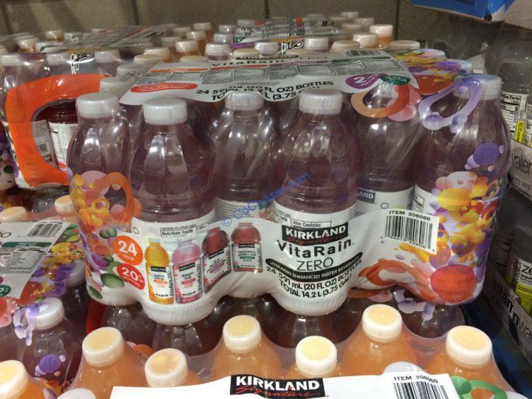 Kirkland Signature Vita Rain Variety Pack 24/20 Ounce Bottles