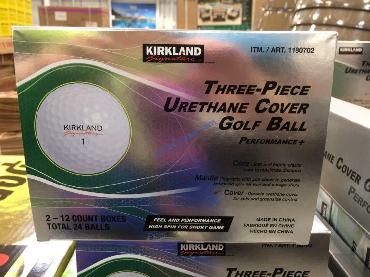 Kirkland Signature 3-piece Urethane Cover Golf Ball 24 Count