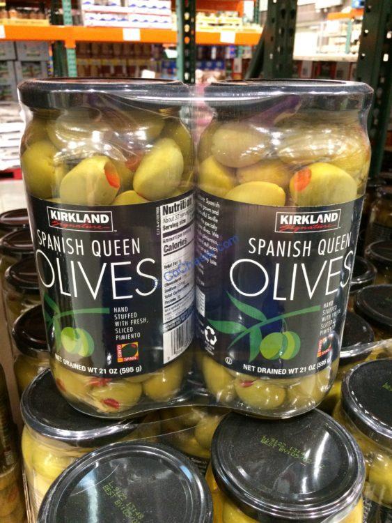 Kirkland Signature Pimiento Stuffed Olive 2/21 Ounce Jars