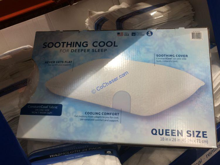 Novaform Lasting Cool Gel Memory Foam Pillow 18in x 28in Queen Size New