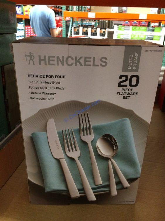Henckels International Metro Square Flatware Set 20PC