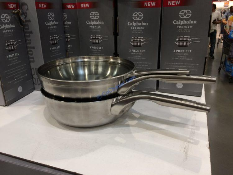 Calphalon Premier Stainless Steel 3-piece Cookware Set