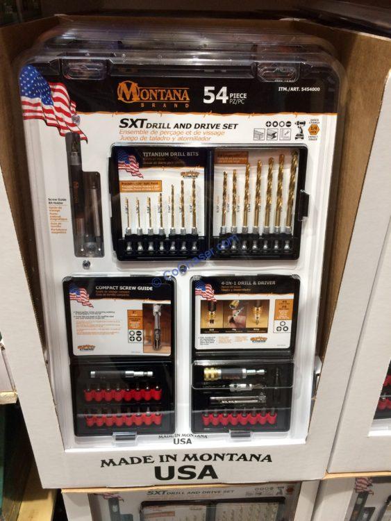 Montana Brand 54P Power Drill & Driver Set