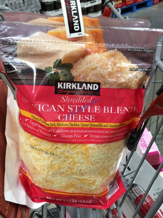 Kirkland Signature Shredded Mexican Blend 2/2.5 Pound Bags
