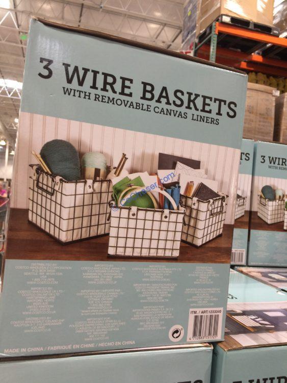 GIFTBURG 3 Piece Basket Set with Liners