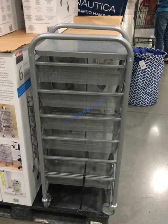 6-Drawer Mesh Organizer Cart