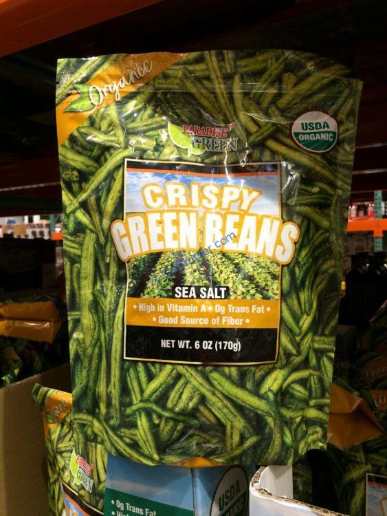 Paradise Green Organic Crispy Green Beans 6 Ounce Bag