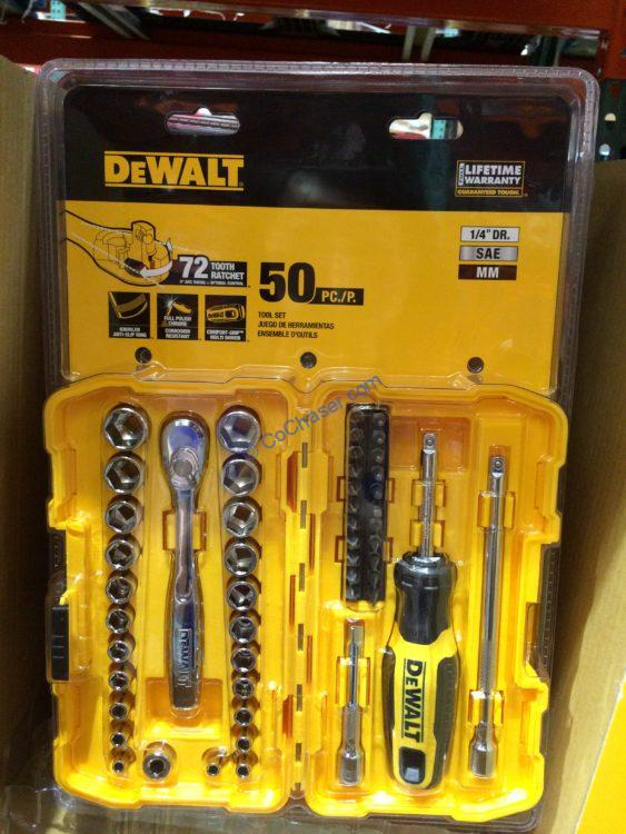 "Dewalt ¼ "" Drive 50PC Mechanics Set"