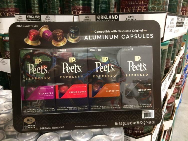 Peet's Nespresso Compatible Aluminum Capsules, 80-count